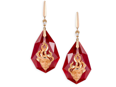 earrings fire talisman